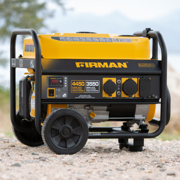 Firman P03501 4550 Watt Performance Generator with Wheel Kit and Cover