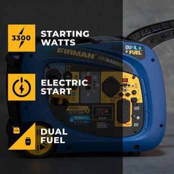 Firman WH03042 3300 Watt Dual Fuel Inverter Generator