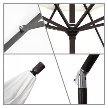 California Umbrella 9 ft. Golden State Series Patio Umbrella With Bronze Aluminum Pole