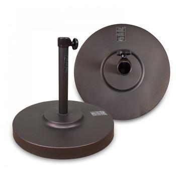 California Umbrella 50LBS Umbrella Base Steel Cover Black - CFMT160-BLACK