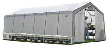 ShelterLogic 70591 GrowIT Heavy Duty 12 x 24 ft. Greenhouse - Grey