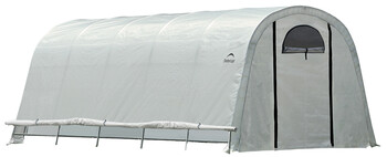 ShelterLogic 70592 GrowIT Heavy Duty Round 12 x 20 ft. Greenhouse - Translucent