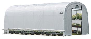 ShelterLogic 70593 GrowIT Heavy Duty 12 x 24 ft. Round Greenhouse - Grey