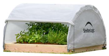 ShelterLogic 70617 GrowIT Backyard Raised Bed Round 4 x 4 ft. Greenhouse - Translucent