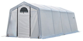 ShelterLogic 70658 GrowIT Greenhouse-in-a-Box Peak 10 x 20 ft. Greenhouse - Translucent