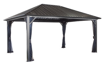 Sojag 500-9165852 Genova Gazebo 12 x 16 ft.- Dark brown