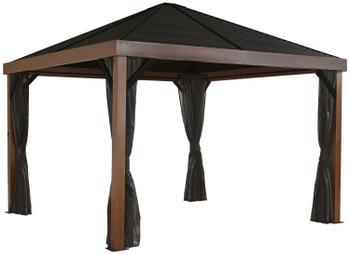 Sojag 500-9166606 Valencia Gazebo Wood Finish 12 x 12 ft. - Brown
