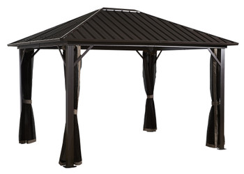 Sojag 500-8153675 Genova Gazebo 10 x 12 ft. - Dark brown
