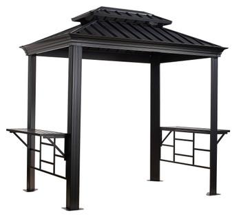 Sojag 500-9162875 BBQ Messina Grill Gazebo 6 x 8 ft - Dark grey
