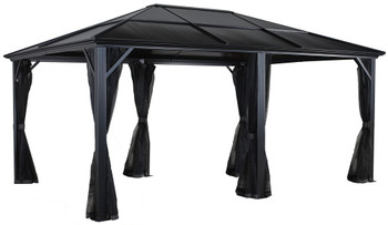 Sojag 500-9162950 Meridien Gazebo 12 x 16 ft - Dark grey