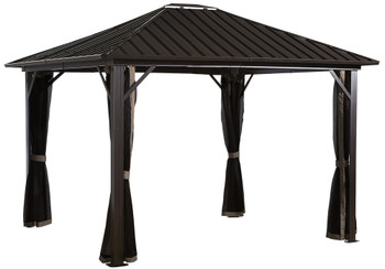 Sojag 500-9165050 Genova Gazebo 12 x 12 ft - Dark brown