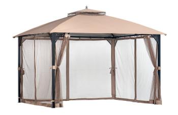 ShelterLogic 24027 Cypress 10x12 Gazebo - Bronze