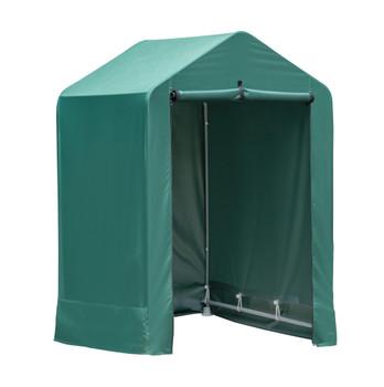 ShelterLogic 70388 Garden Shed 4x4x6 - Green