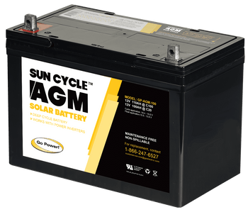 Go Power! GP-AGM-100 12 Volt Sun Cycle AGM Solar Battery
