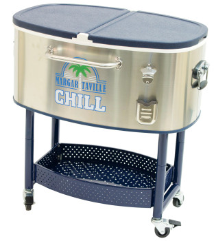 Margaritaville RC200SSMV-09-1 Rolling Party Stainless Steel Cooler - Margaritaville Chill