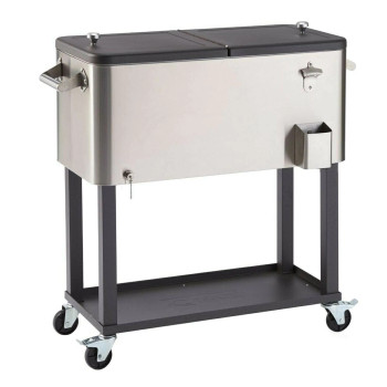 TRINITY 100 Quart Stainless Steel Cooler with Cover