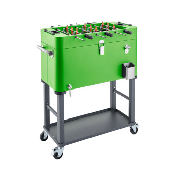 TRINITY 80 Quart Foosball Cooler with Detachable Tub and Cover - Electric Green