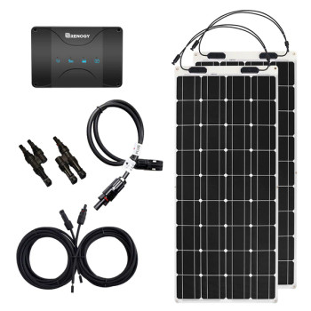 Renogy 12V 50A DUAL BATTERY CHARGING 200W SOLAR FLEX BUNDLE