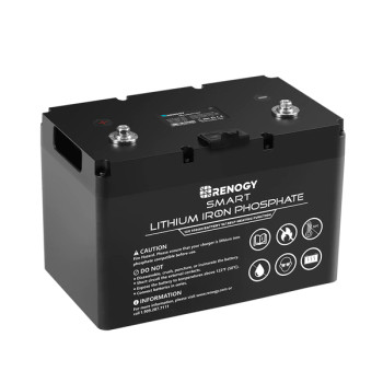 Renogy 12V 100Ah Smart Lithium Iron Phosphate Battery w/ Self-Heating Function