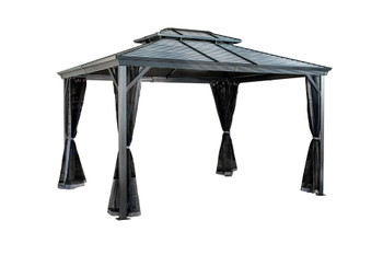 Sojag 500-9165180 VENTURA II #93D GAZEBO 10'X12' ST ROOF - Dark Grey