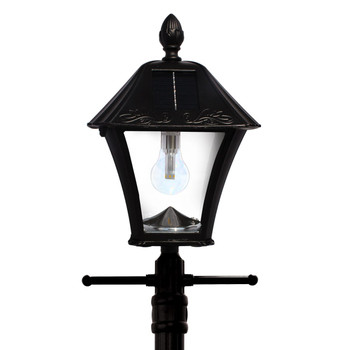 Gama Sonic Baytown Bulb Solar Lamp Post with EZ-Anchor and Planter