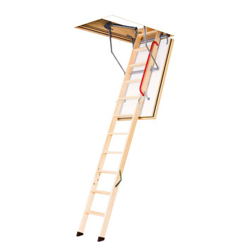 Fakro LWT 3054 30 in. x 54 in. Super-Thermo Wood Attic Ladder