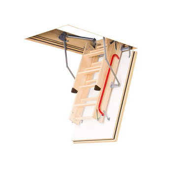 Fakro LWT 2554 25 in. x 54 in. Super-Thermo Wood Attic Ladder