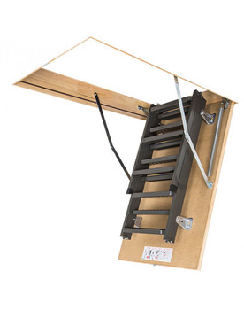 Fakro LMS 3054 30 in. x 54 in. Insulated Metal Folding Attic Ladder