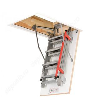 Fakro LML 27.47 in. x 47 in. Lux Insulated Metal Folding Attic Ladder