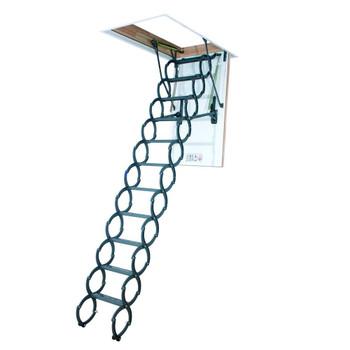 Fakro LST 2547 25 in. x 47 in. Insulated Metal Scissor Attic Ladder