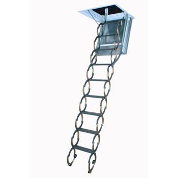 Fakro LSF 2547 25 in. x 47 in. Fire Rated Metal Scissor Attic Ladder