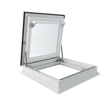 Fakro DRF 36 in. x 36 in. Venting Flat Roof Deck-Mount Roof Access Skylight Triple Glazed