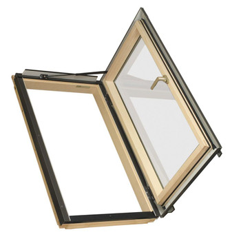 Fakro FWU-R Egress Window 22-1/4 in x 45-1/4 in. Venting Roof Access Skylight with Tempered Glass, LowE