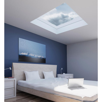 Fakro FXC 22-1/2 in. x 30-1/2 in. Fixed Curb-Mounted Skylight with Laminated LowE366 Glass