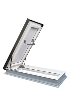 Fakro DRL 36 in. x 36 in. Venting Flat Roof Deck-Mount Roof Access Skylight Triple Glazed