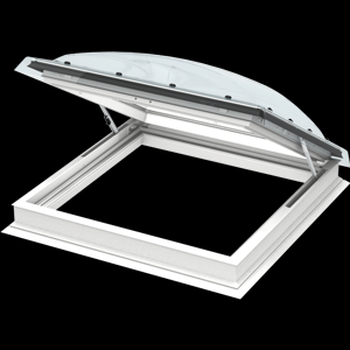 VELUX 35 7⁄16 x 47 1⁄4 Flat Roof Exit Skylight with Polycarbonate Dome CXP 09120