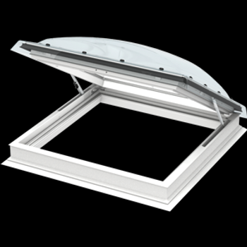 VELUX 47 1/4 x 47 1/4 Flat Roof Exit Skylight with Polycarbonate Dome CXP 120120