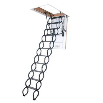 Fakro LST 3054 30 in. x 54 in. Insulated Steel Scissor Attic Ladder