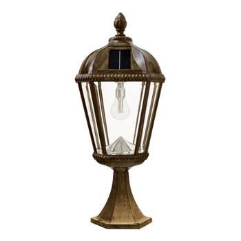 Gama Sonic Royal Bulb Pier Mount Solar Lamp with GS Solar LED Light Bulb GS-98B-P