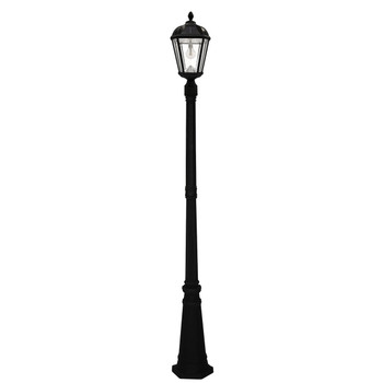 Gama Sonic Royal Bulb Single Solar Lamp and Lamp Post with GS Solar LED Light Bulb GS-98B-S