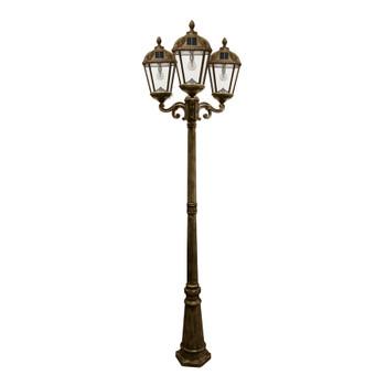 Gama Sonic Royal Bulb Triple Solar Lamp with GS Solar LED Light Bulb GS-98B-T