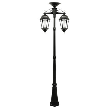 Gama Sonic Victorian Bulb – Double Downward Hanging Solar Lamp Post GS-94B-CD