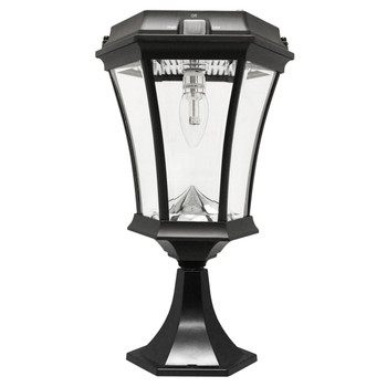 Gama Sonic Victorian Bulb 3 Mounting Options with GS Solar LED Light Bulb GS-94B-FPW