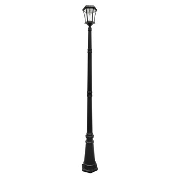 Gama Sonic Victorian Bulb Solar Lamp and Single Lamp Post with GS Solar LED Light Bulb GS-94B-S