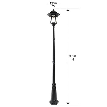Gama Sonic Windsor Bulb Solar Lamp Post GS-99B-S