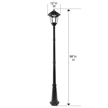 Gama Sonic Windsor Bulb Solar Lamp Post GS-99B-S