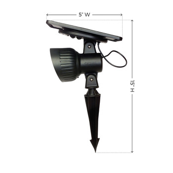 Gama Sonic Progressive Solar Garden and Landscape LED Spotlight GS-103