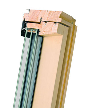 Fakro 32-1/4 in. x 56 1/2 in. Deck Mount Highly Energy-Efficient Roof Window FTT-U6 30/55 with Laminated Triple-Glass