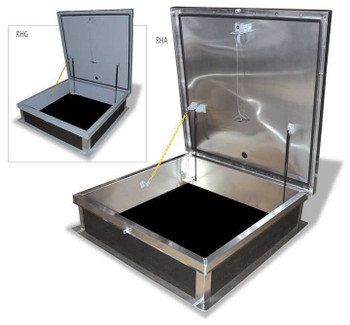Acudor 48 x 48 Equipment Access Roof Hatch G5656 Galvanized - Single Leaf