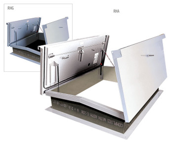 Acudor 60 x 60 Equipment Access Roof Hatch A6868 Aluminum - Double Leaf